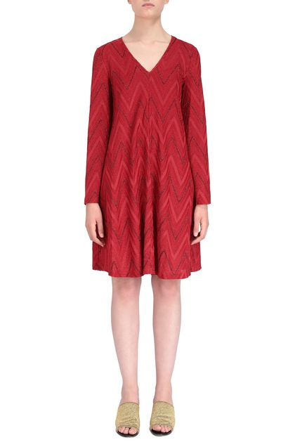 M MISSONI Dress Red Woman - Back