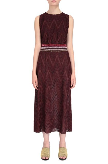 M MISSONI Long dress Garnet Woman - Back