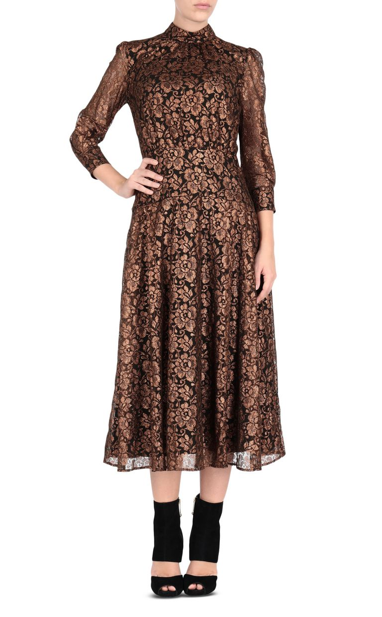 JUST CAVALLI Lurex lace dress 3/4 length dress [*** pickupInStoreShipping_info ***] f
