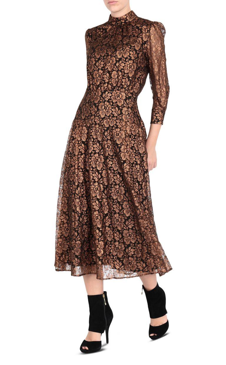 JUST CAVALLI Lurex lace dress 3/4 length dress [*** pickupInStoreShipping_info ***] r