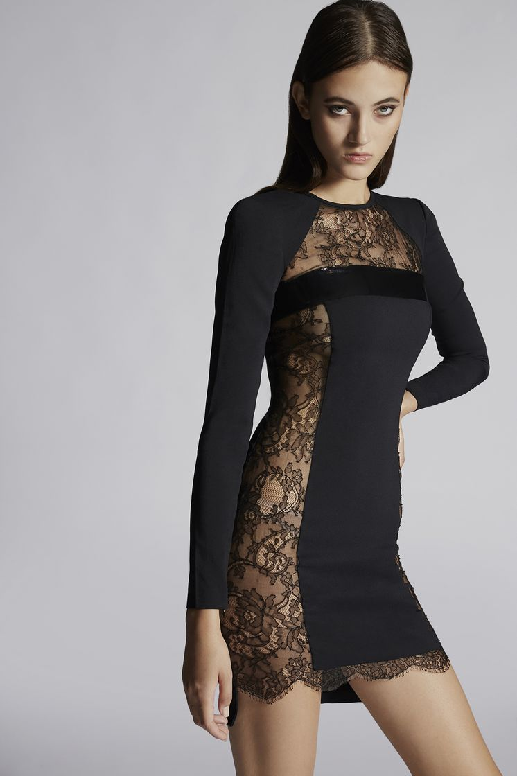 DSQUARED2 Stretch Cady Eloise Long Sleeves Dress 连衣裙 女士