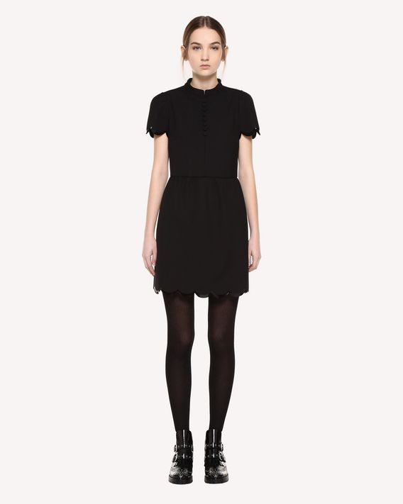 REDValentino Dress in Cady Tech with scallop detail