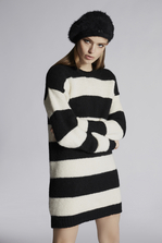 DSQUARED2 Striped Aplaca Dress Dress Woman