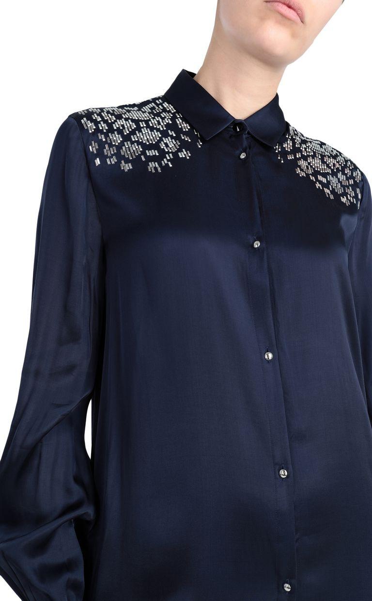 JUST CAVALLI Shirtdress with stud detailing Dress [*** pickupInStoreShipping_info ***] e