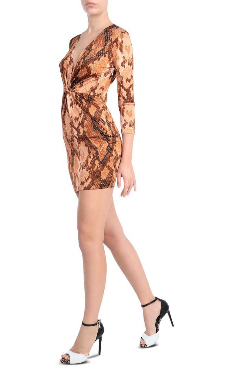 JUST CAVALLI Dress with python print design Short dress Woman d