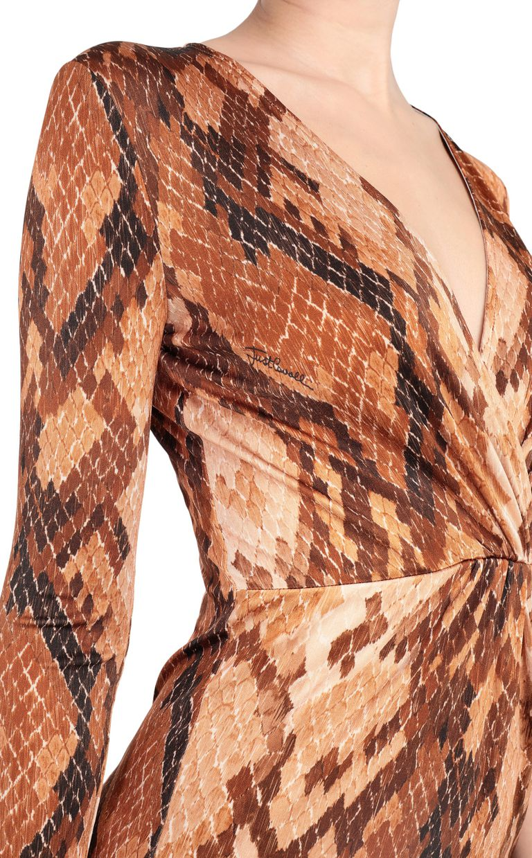 JUST CAVALLI Dress with python print design Short dress Woman e