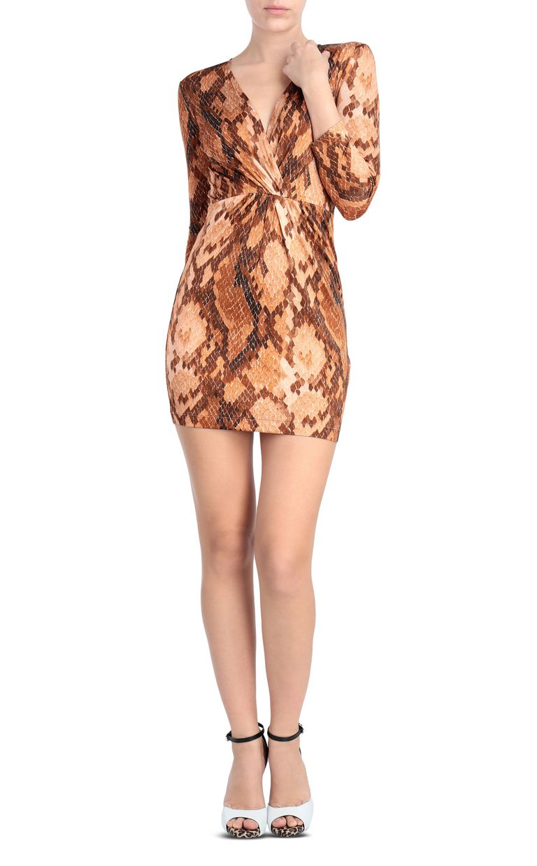 JUST CAVALLI Dress with python print design Short dress Woman f