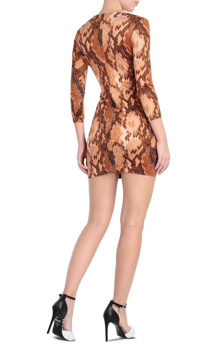 JUST CAVALLI Dress with python print design Short dress Woman r