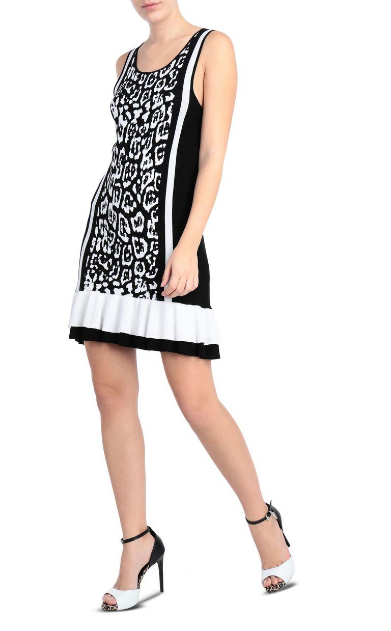 JUST CAVALLI Short dress with leopard print Short dress Woman d