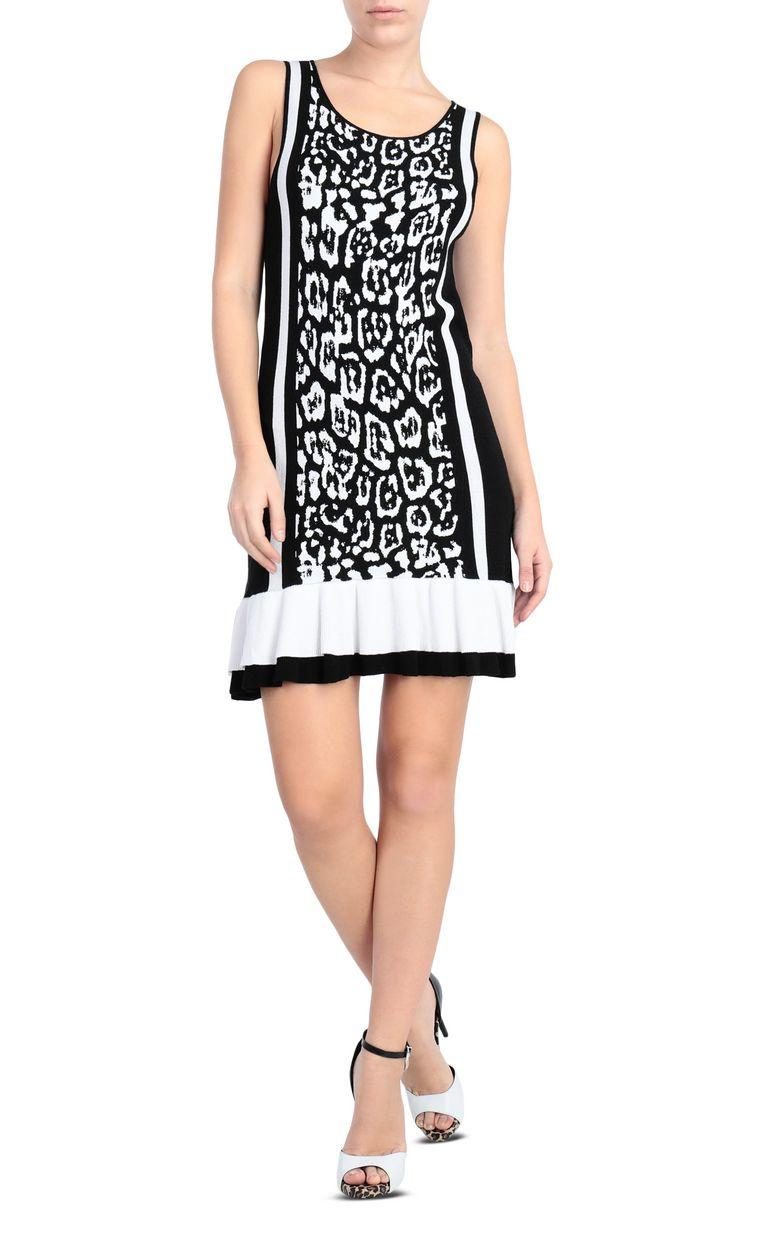 JUST CAVALLI Short dress with leopard print Short dress Woman f