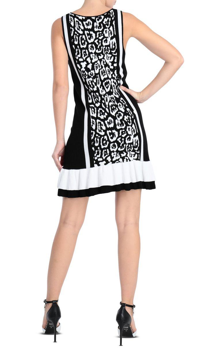 JUST CAVALLI Short dress with leopard print Short dress Woman r