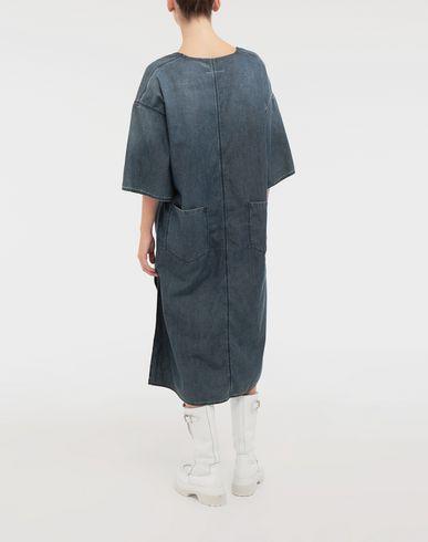 DRESSES Oversized V-neck denim dress