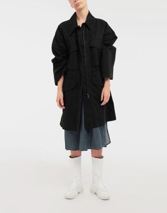 MM6 MAISON MARGIELA Oversized V-neck denim dress 3/4 length dress [*** pickupInStoreShipping_info ***] d