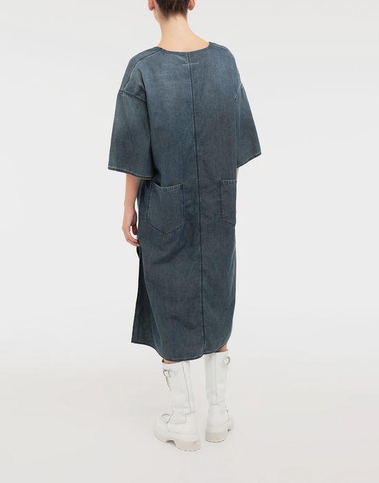 MM6 MAISON MARGIELA Oversized V-neck denim dress 3/4 length dress [*** pickupInStoreShipping_info ***] e