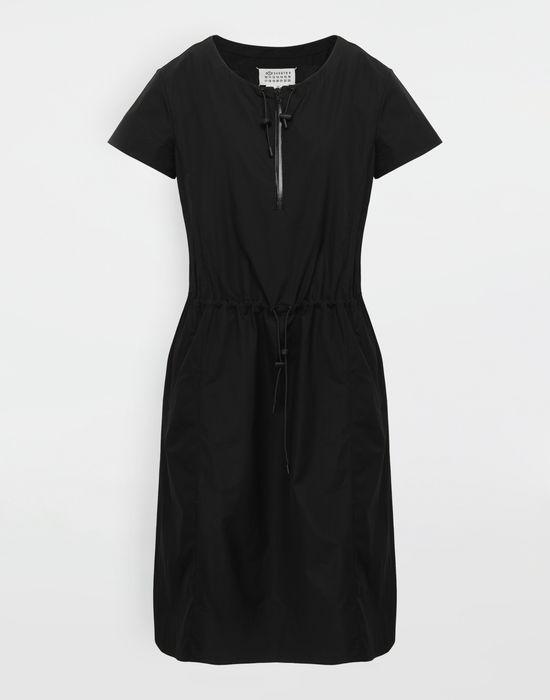 MAISON MARGIELA Cotton-poplin day dress 3/4 length dress [*** pickupInStoreShipping_info ***] f