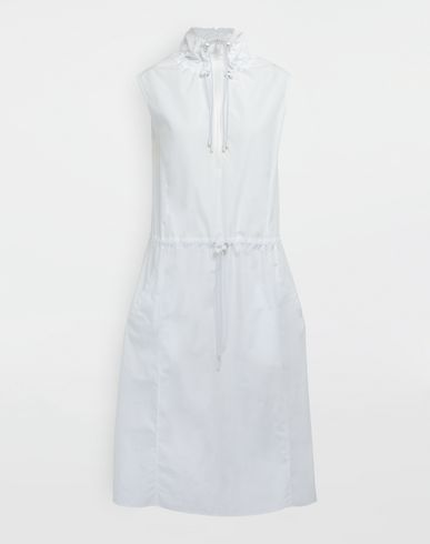 MAISON MARGIELA 3/4 length dress [*** pickupInStoreShipping_info ***] Cotton-poplin outerwear dress f