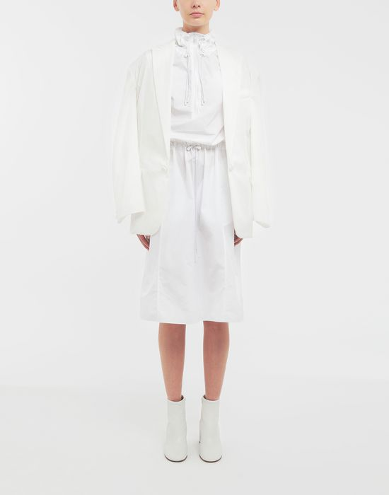 MAISON MARGIELA Cotton-poplin outerwear dress 3/4 length dress [*** pickupInStoreShipping_info ***] d