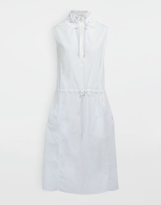 MAISON MARGIELA Cotton-poplin outerwear dress 3/4 length dress [*** pickupInStoreShipping_info ***] f
