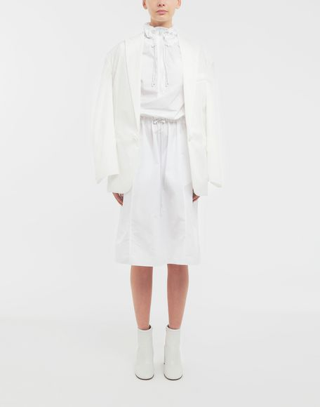 MAISON MARGIELA Cotton-poplin outerwear dress 3/4 length dress Woman d