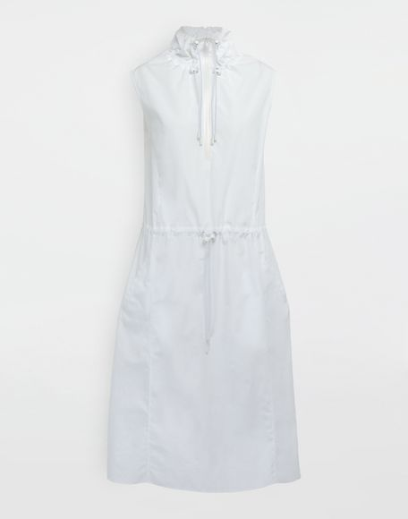 MAISON MARGIELA Cotton-poplin outerwear dress 3/4 length dress Woman f