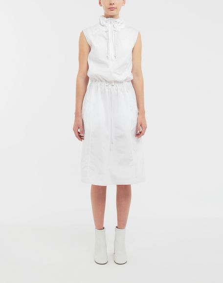 MAISON MARGIELA Cotton-poplin outerwear dress 3/4 length dress Woman r