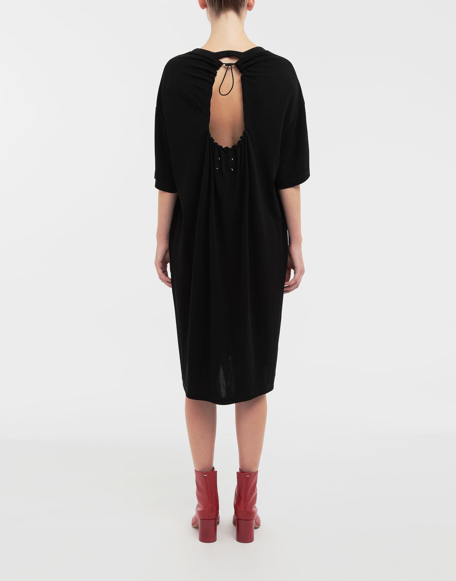 MAISON MARGIELA Ruched back jersey day dress Short dress Woman e