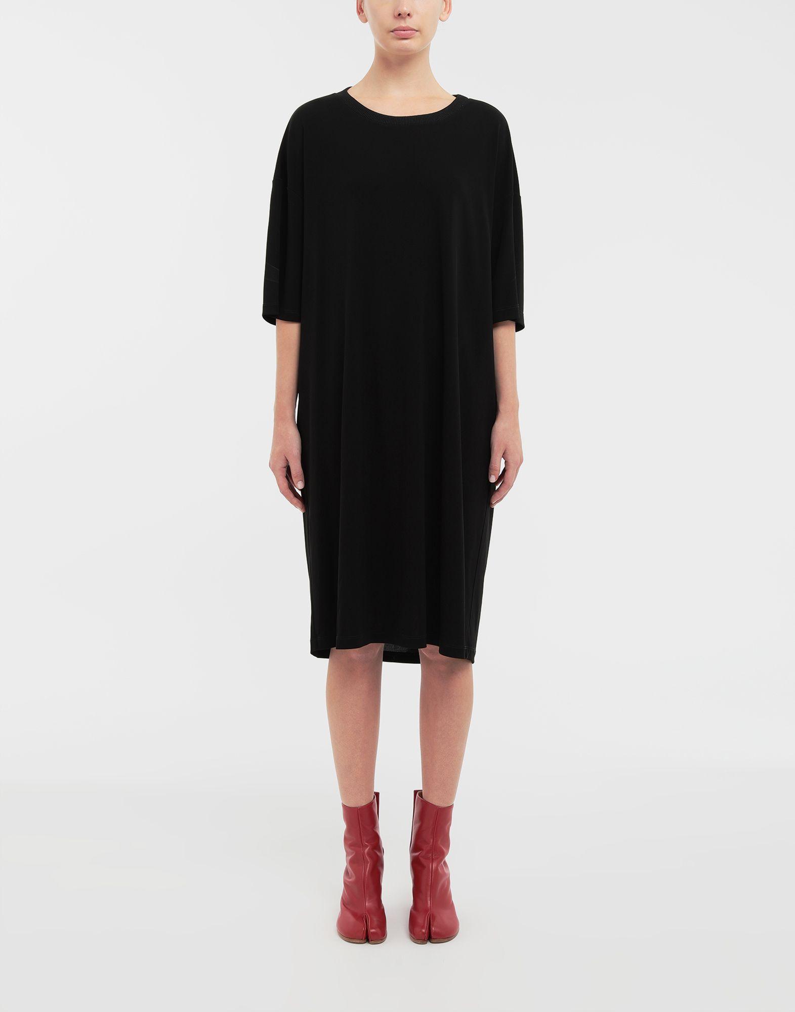 MAISON MARGIELA Ruched back jersey day dress Short dress Woman r