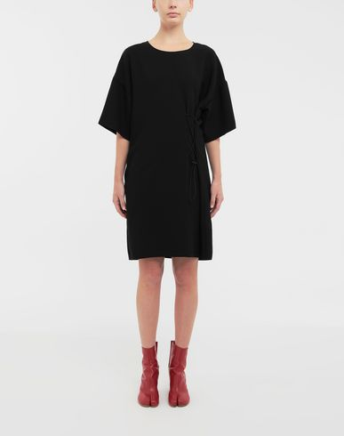DRESSES Lace-up jersey midi dress