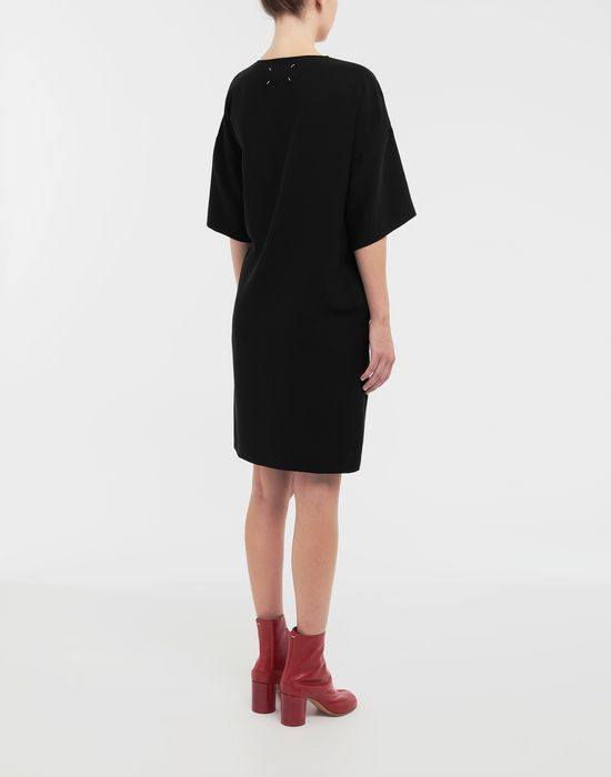 MAISON MARGIELA Lace-up jersey midi dress Short dress [*** pickupInStoreShipping_info ***] e