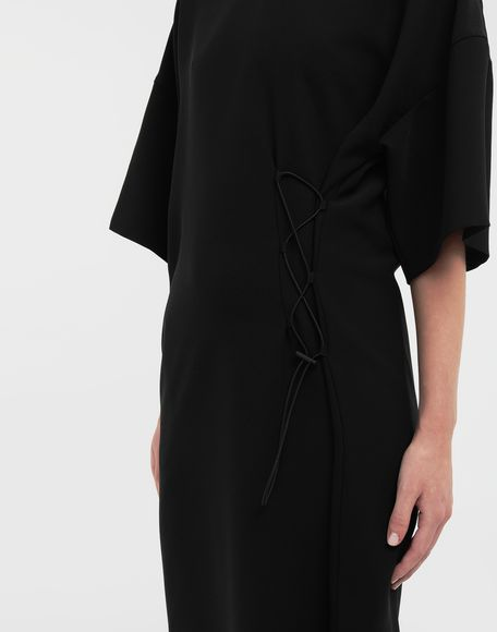 MAISON MARGIELA Lace-up jersey midi dress Short dress Woman b