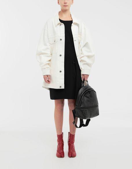 MAISON MARGIELA Lace-up jersey midi dress Short dress Woman d