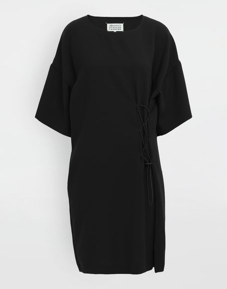 MAISON MARGIELA Lace-up jersey midi dress Short dress Woman f