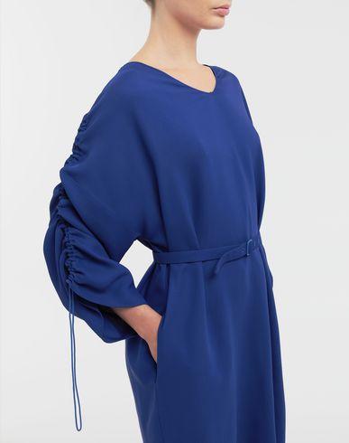 DRESSES Ruched-sleeve jersey midi  dress