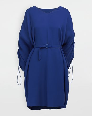 MAISON MARGIELA Ruched-sleeve jersey midi dress 3/4 length dress [*** pickupInStoreShipping_info ***] f