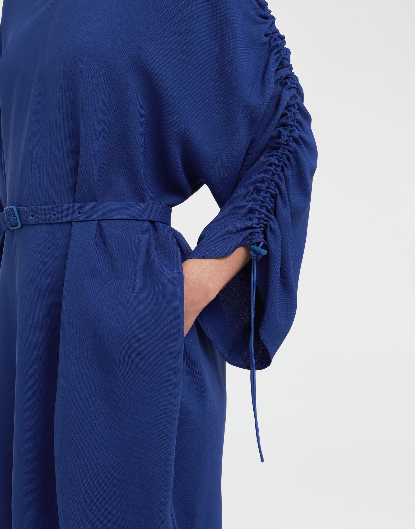 MAISON MARGIELA Ruched-sleeve jersey midi dress 3/4 length dress Woman a