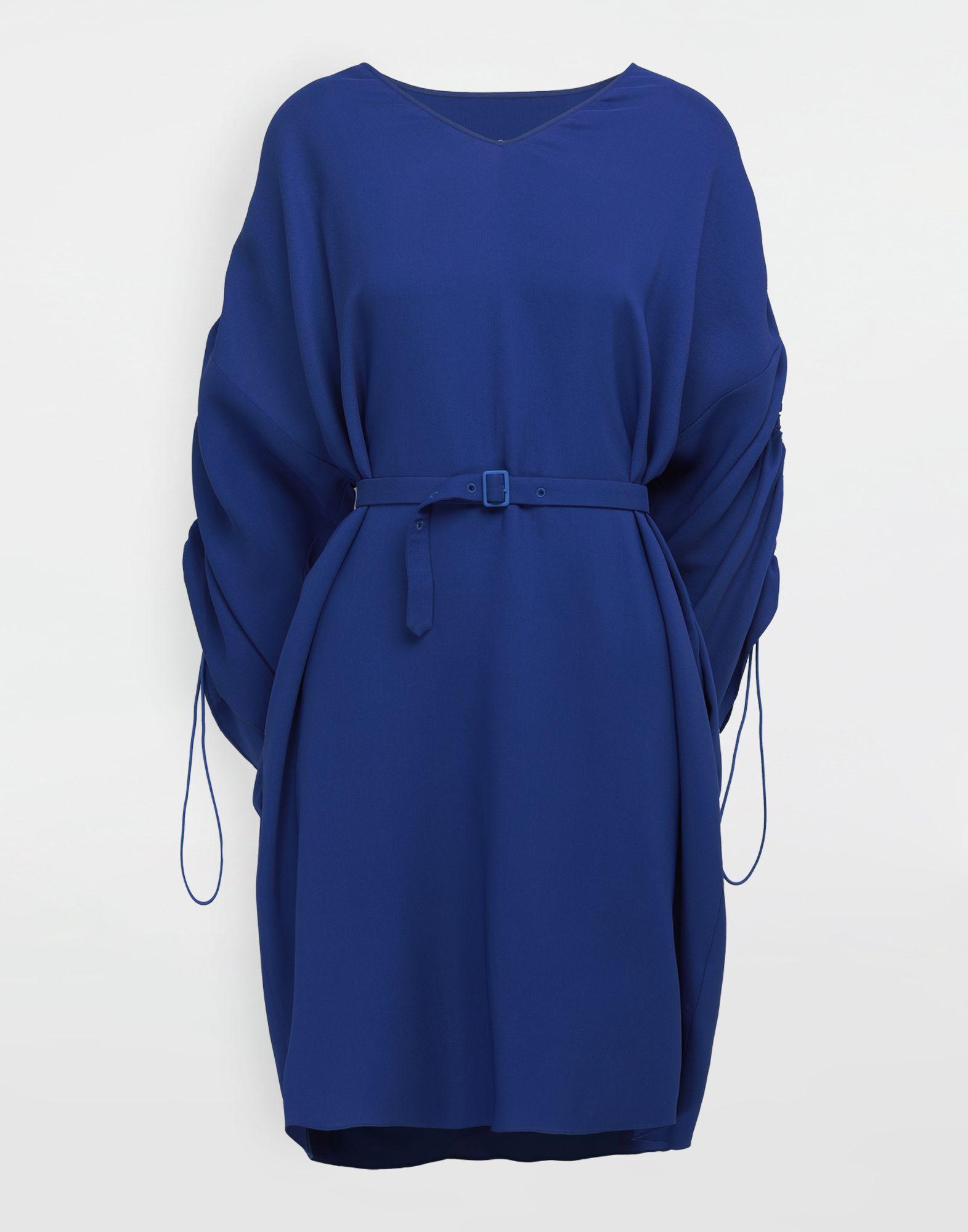MAISON MARGIELA Ruched-sleeve jersey midi dress 3/4 length dress Woman f