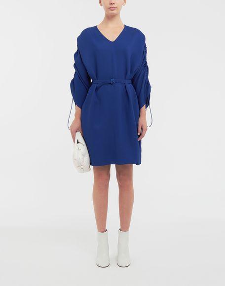 MAISON MARGIELA Ruched-sleeve jersey midi dress 3/4 length dress Woman d