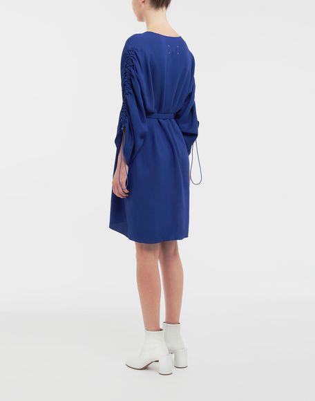 MAISON MARGIELA Ruched-sleeve jersey midi dress 3/4 length dress Woman e