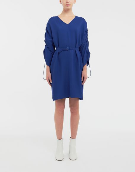 MAISON MARGIELA Ruched-sleeve jersey midi dress 3/4 length dress Woman r