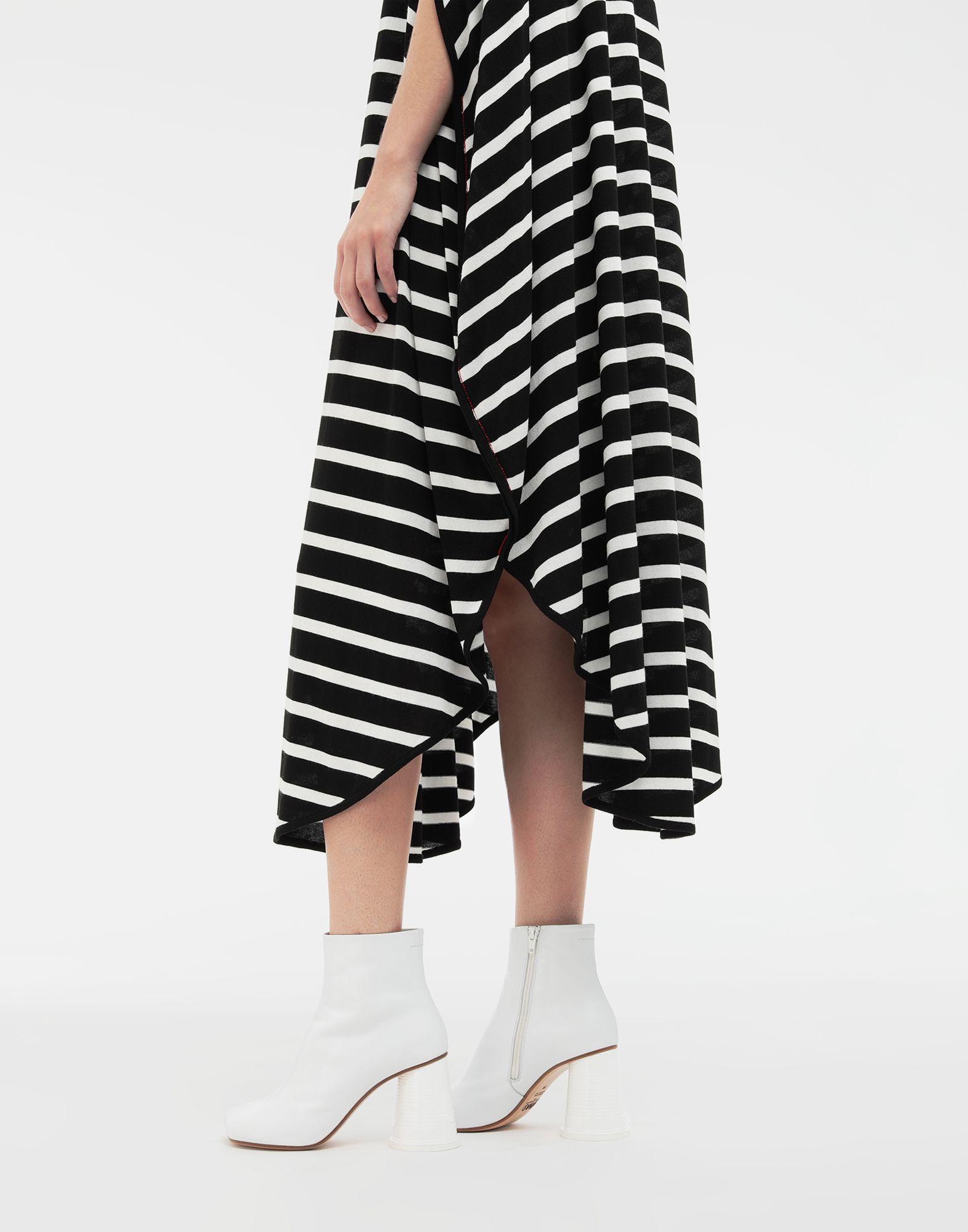 MM6 MAISON MARGIELA Circle striped midi dress Long dress Woman b