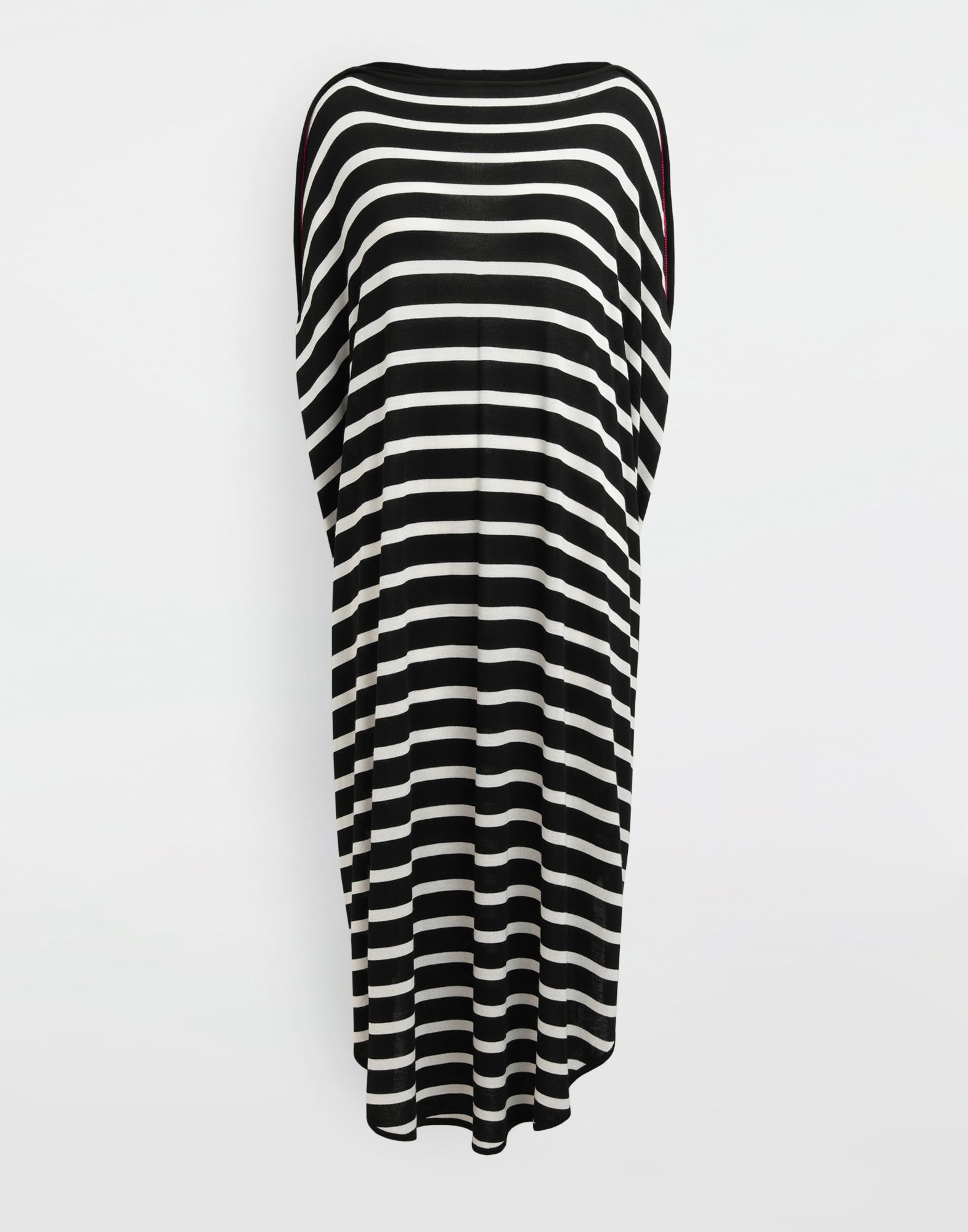 MM6 MAISON MARGIELA Circle striped midi dress Long dress Woman f