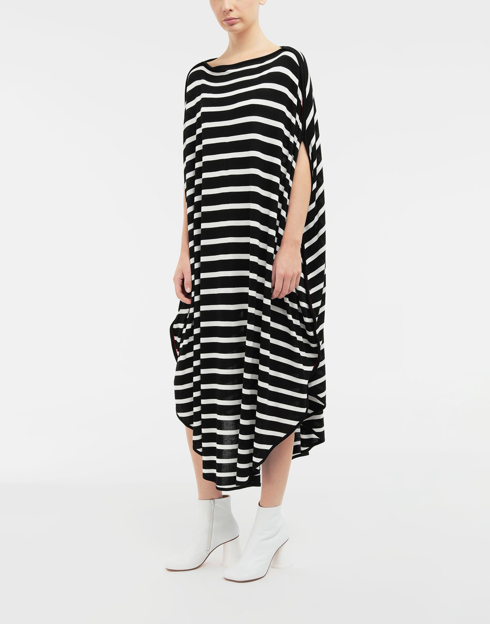 MM6 MAISON MARGIELA Circle striped midi dress Long dress Woman r