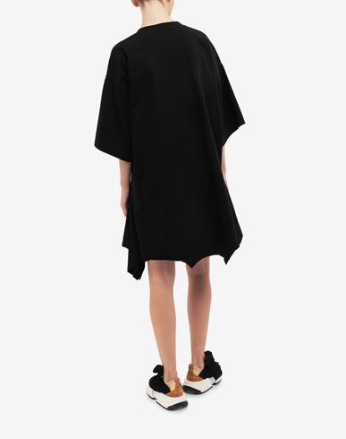DRESSES Double shirt midi dress Black