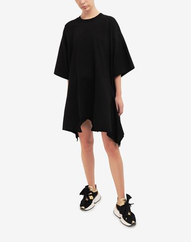 DRESSES Double shirt midi dress Black