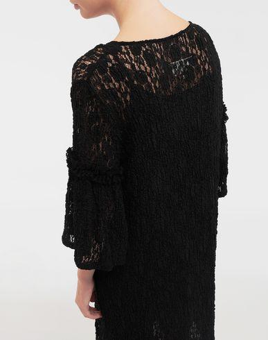 DRESSES Lace-trimmed midi dress