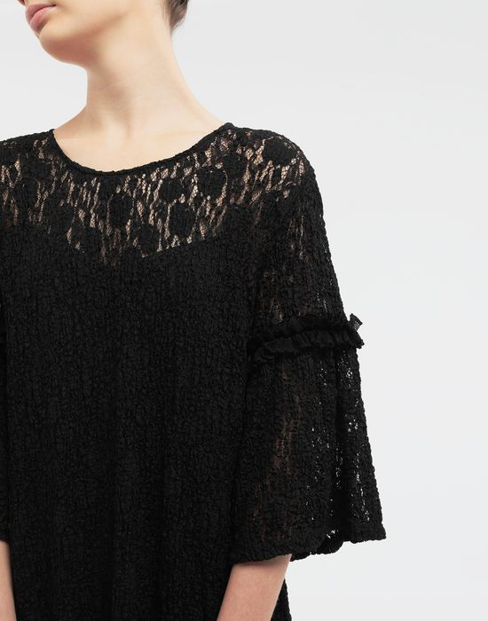 MM6 MAISON MARGIELA Lace-trimmed midi dress 3/4 length dress [*** pickupInStoreShipping_info ***] a