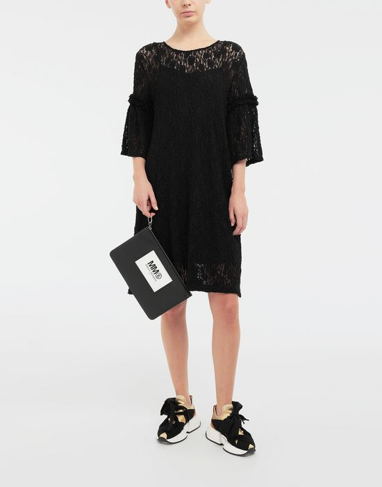 MM6 MAISON MARGIELA Lace-trimmed midi dress 3/4 length dress [*** pickupInStoreShipping_info ***] d