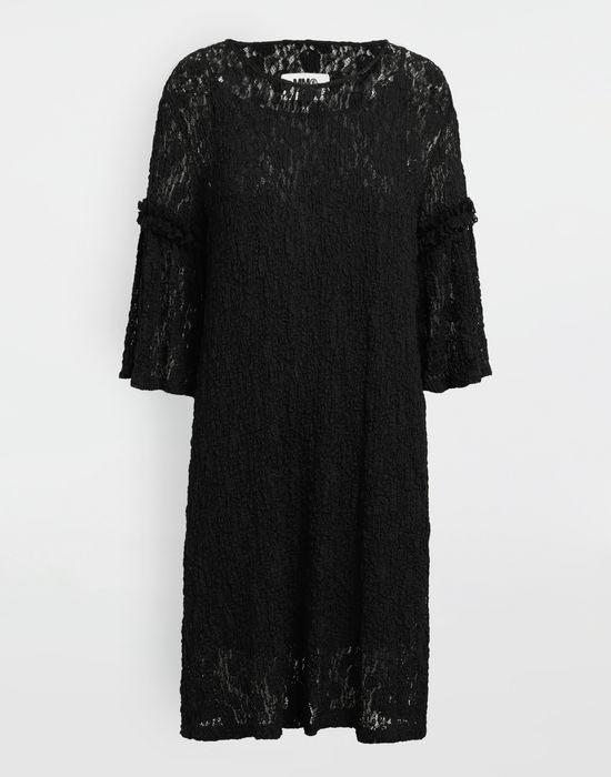 MM6 MAISON MARGIELA Lace-trimmed midi dress 3/4 length dress [*** pickupInStoreShipping_info ***] f