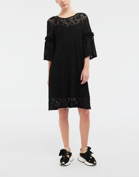 MM6 MAISON MARGIELA Lace-trimmed midi dress 3/4 length dress [*** pickupInStoreShipping_info ***] r