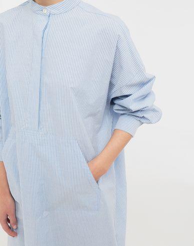 DRESSES Logo-print poplin shirt dress Sky blue